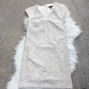 BNWOT J.Crew Champagne and Cream Lace Dress